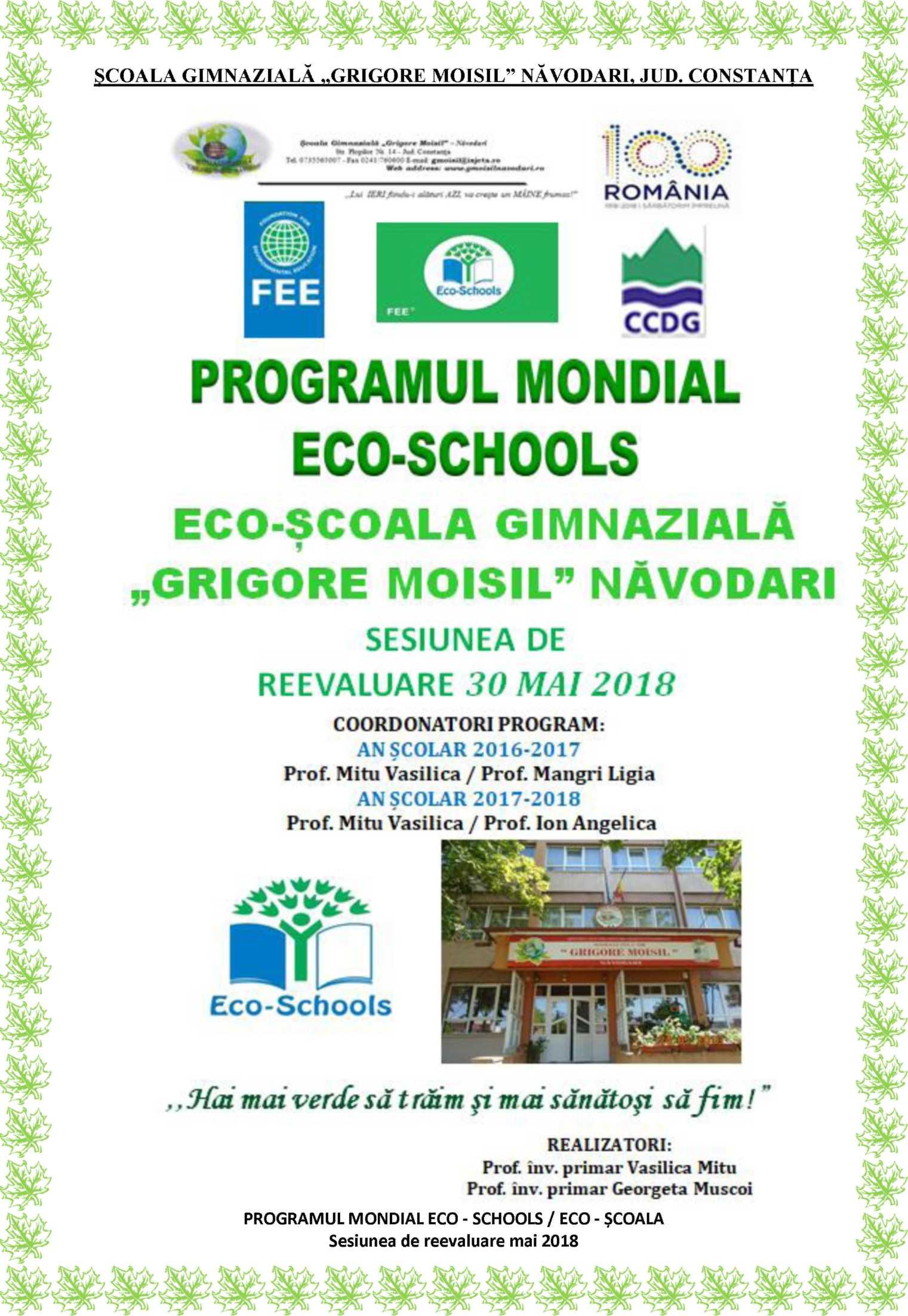 "Programul mondial ""ECO Școala"""